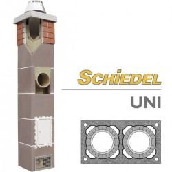 Керамический дымоход Schiedel UNI двухходовой без вентиляции
