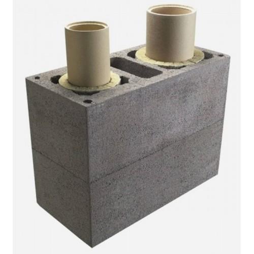 Керамический дымоход Schiedel UNI двухходовой с вентиляционным каналом